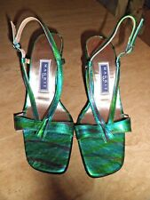 MAGRIT Green Metallic Slingback Sandals UK 3.5  EU 36 Brand New
