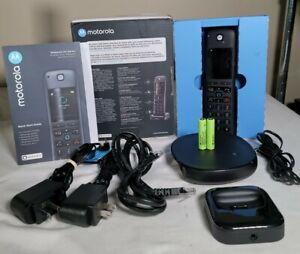 Motorola AXH01 Cordless Phone with Built-in Alexa & Full Color Display
