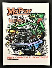 Mopar King Of Hemi's STICKER Decal Ed Roth Rat Fink Official Original