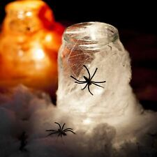 20 x Spider Web 4 Spiders Halloween Party Decoration Stretchable Cobweb Dress