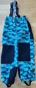 Polarn O. Pyret 6-7 years kids waterproof shell trousers green cloud print