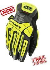 MECHANIX WEAR - Hi-Viz M-Pact Open Cuff E5 - Fluorescent Yellow Color - Size L