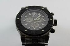 INVICTA MEN'S RESERVE SPEEDWAY SWISS QUARTZ CHRONO WATCH, GUN METAL/RUBBER #4941