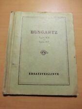 Ersatzteilliste Bungartz H3 und HF Einachsschlepper 4PS 1952