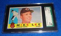 1960 Topps Mike Lee Card #521 Hi Number SGC 88 NM/MT 8 Indians