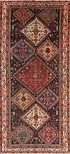 Antique Tribal South-west Geometric Bakhtiari LARGE Area Rug Hand-Knotted 6'x13'
