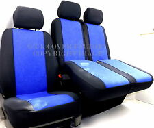 FIAT DUCATO VAN SEAT COVERS  BLUE VELOUR FABRIC P30BLU
