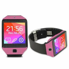 Skinomi Carbon Fiber Pink+Screen Protector For Samsung Galaxy Gear 2 NEO Watch