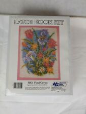 National Yarns R801 Floral Cameo Latch Hook Kit New Unopened