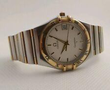 Omega constellation solid gold and steel watch  ref 396.1201
