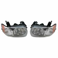 Headlights Headlamps Left & Right Pair Set NEW for 01-04 Ford Escape