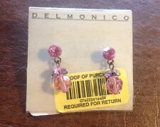 "New Delmonico: ""Vintage"" Dangle Earrings in Pink Swarovski Crystals~Stunning!"