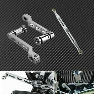 Motorcycle CNC Heel Toe Gear Shift Lever Shifter Peg Linkage Fit For Harley Dyna