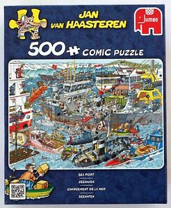 Jan Van Haasteren Jumbo Jigsaw Sea Port 500 piece ~ New & Sealed ~ #19012, 2015