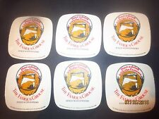 6 x THE FAMOUS GROUSE SCOTCH  WHISKY Coasters Australian 1970,s Issue SQUARISH