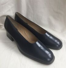 Women's NINE WEST shoes size UK 7.5 navy blue low heels court US 9 1/2 M office
