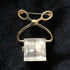 Vintage Endura Scissors Nurse's Watch / Pin Sewing Gold Tone Rare