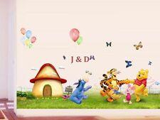 WINNIE The Pooh Farfalla / PALLONCINI muro Adesivi Vivaio Baby Kids Vinile Decalcomania