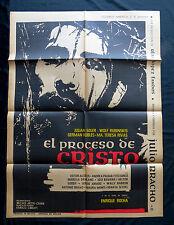 """'""""EL PROCESO DE CRISTO"""" ENRIQUE ROCHA JULIO BRACHO MEXICAN MOVIE POSTER 1965"""