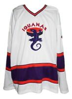 Any Name Number Size San Antonio Iguanas Retro Hockey Jersey New White