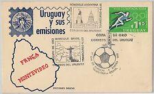 sport FOOTBALL -  POSTAL HISTORY - URUGUAY : SPECIAL POSTMARK on COVER 1981
