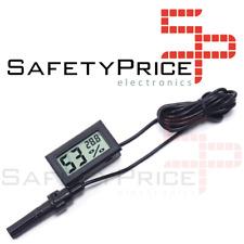 Termohigrometro Termometro LCD digital temperatura humedad CON SONDA sumergible
