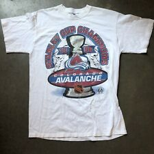 Men's Vintage Starter Colorado Avalanche Stanley Cup Champions T Shirt Tee Sz M