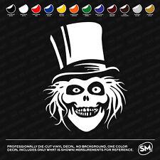 """Haunted Mansion Hatbox Ghost 5"""" Vinyl Decal Window Sticker"""