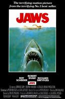 """JAWS MOVIE POSTER 61x91cm / 24""""x36"""" SHARK PRINT THEATRE MEDIA ROOM DECOR ART NEW"""