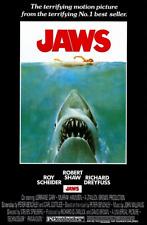 "Jaws Movie Poster 61x91cm / 24""x36"" Shark Print Theatre Media Room Decor Art"