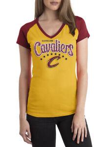 Cleveland Cavaliers Womens NBA Short Sleeve Biblend Jersey V-neck XL (G2)