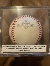 2015 Game Used Wild Card Postseason Baseball Houston Astros New York Yankees