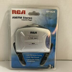RCA AM/FM Stereo Cassette Player with Headphones Model RP1824 - Brand New