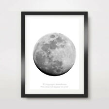 "FULL MOON ART PRINT Poster Home Decor Wall Picture A4A3A2 8x10 12x16 16x20"" inch"