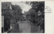 Ak Erfurt. Blick nach der Barfüsserkirche um 1936 von Gotha nach München.