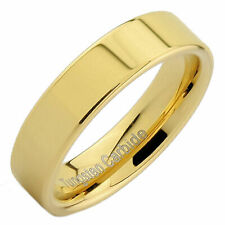 Flat Pipe Cut 5mm Tungsten Carbide Various Colors Wedding Ring
