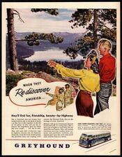 1945 Greyhound Busses - Wwii Medics - National Park - Lake - Highway Vintage Ad