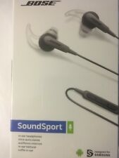 NEW BOSE SOUNDSPORT MOBILE IN-EAR HEADPHONE for SAMSUNG ANDROID - CHARCOAL BLACK