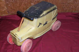Old Marx Toys Kids Push Riding Ride On Car Vintage Plastic Model A Toy Vehicle