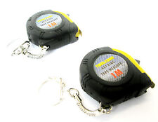 1M Tape Measure Key Ring  (Set Of Two) Measuring Tapes  New MS139