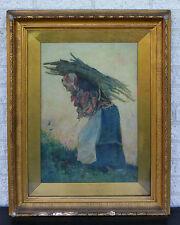 David woodlock-Aquarelle de 1880-signé