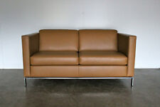 """Immaculate Sublime Walter Knoll """"Foster 500.20"""" 2-Seat Sofa in Pale-Brown Lea..."""