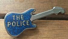 More details for the police guitar glitter metalflake metal pin badge - original vintage vgc