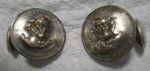 1909 & 1910 Lincoln penny cent with 3D LINCOLN Pop Push Punch Out Repousse Coin