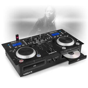 CDJ-500 Dual Twin CD USB Player 2-CH DJ Amplified Mixer Bluetooth Jog Wheels CUE