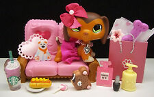 LITTLEST PET SHOP SAVVY DACHSHUND #675 SKIRT BOW SHOPPING COUCH ACCESSORIES