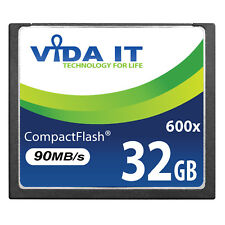 32GB Compact Flash CF Memory Card High Speed 600x 90MB/s For Digital Camera UK