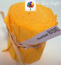 """10 X 2.5""""x 45"""" Bright YellowJelly Roll quilting binding edging BSE FREEPOST AU"""