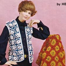 Crazy Daisy Boutique Crochet Dritz Winder Vol5 Scovill 1970s Vest Afghan Tote