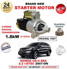 PARA HONDA CR-V 2.2 iDTEC 4WD AWD MOTOR DE ARRANQUE 07-ON 10 DIENTES 1,8kW